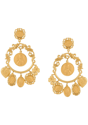 Dolce & Gabbana votive image drop earrings - GOLD