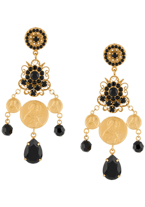 Dolce & Gabbana votive image rhinestone earrings - GOLD