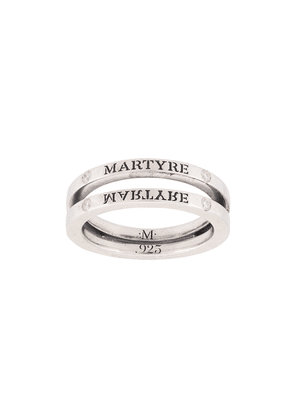 MARTYRE diamond split ring - SILVER