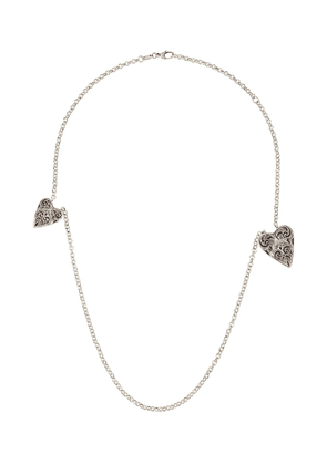 Gucci heart charm necklace - SILVER
