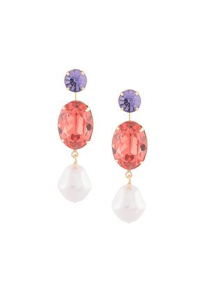 Jennifer Behr Meredith crystal-drop earrings
