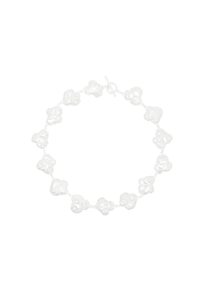 All Blues sterling silver popcorn necklace - White