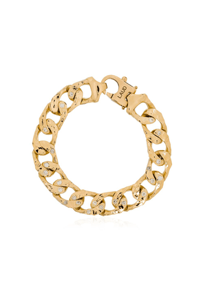 LAUD 18kt yellow gold diamond link chain bracelet