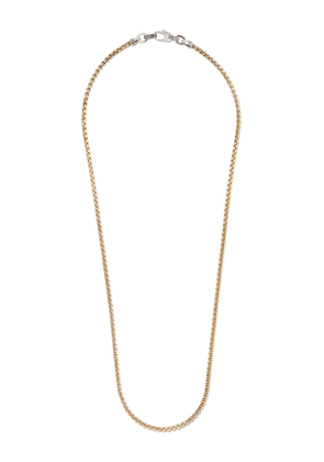 John Hardy 18kt yellow gold and sterling silver 3.7mm box chain
