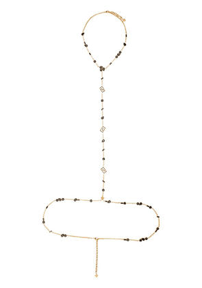 Versace crystal body chain - GOLD