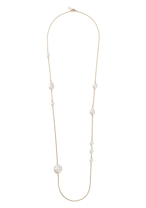 Gentry Portofino long pearl-link necklace - GOLD