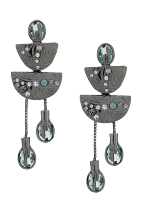 Camila Klein chain embellished earrings - SILVER