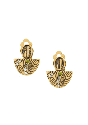 Camila Klein textured earrings - GOLD