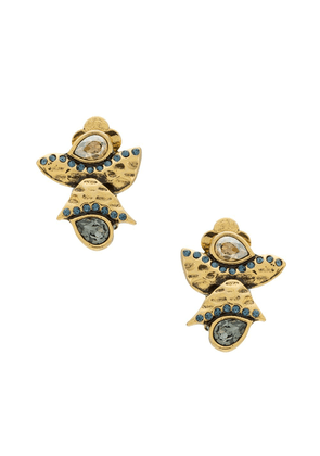 Camila Klein embellished earrings - GOLD