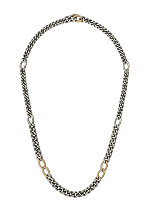 Hum chain-link necklace - STERLING SILVER 18KT YELLOW GOLD