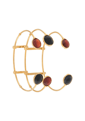 Gas Bijoux triple layered cage bangle - GOLD