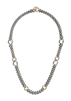 Hum chain link necklace - STERLING SILVER 18KT YELLOW GOLD