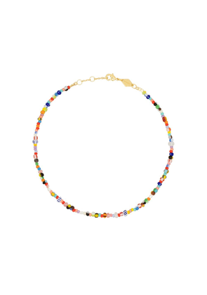 Anni Lu 18kt gold-plated Petit Alaia anklet - Blue