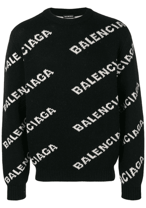 Balenciaga all-over logo jumper - Black