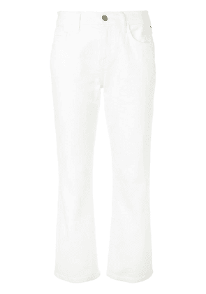 Current/Elliott cropped bootcut jeans - White