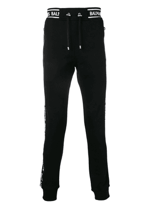 Balmain side logo stripe track pants - Black