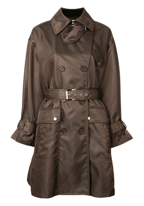 Barbara Bui double breasted belted coat - Green