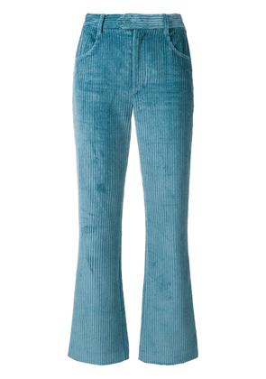 Isabel Marant cropped corduroy trousers - Blue