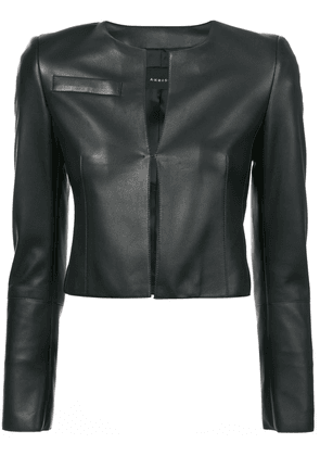 Akris cropped fitted jacket - Black
