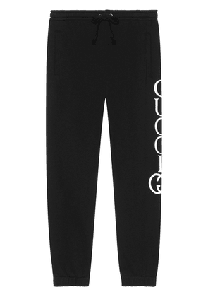 Gucci Jogging pants with Gucci print - Black
