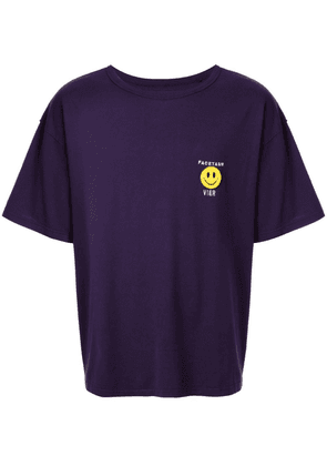 Facetasm graphic print T-shirt - PURPLE
