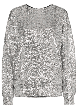 Isabel Marant Olivia sequin embellished top - Metallic