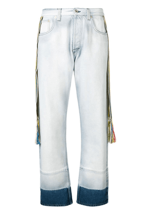 Loewe striped bands straight jeans - Blue