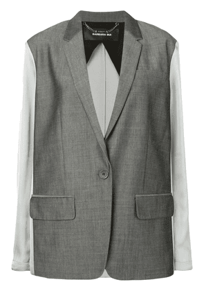 Barbara Bui contrast fitted blazer - Grey