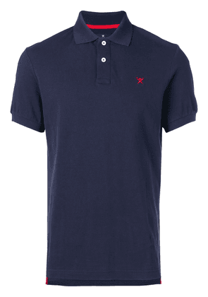 Hackett logo embroidered polo shirt - Blue