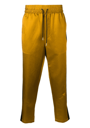 AMI Track Pants With Contrasted Side Bands - GOLD