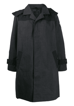 The North Face hooded button-up raincoat - Black