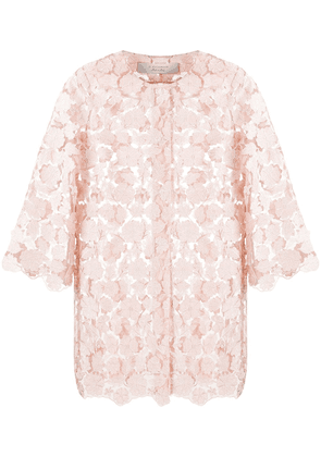 D.Exterior floral sheer jacket - NEUTRALS