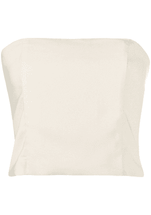 Federica Tosi strapless cropped top - NEUTRALS