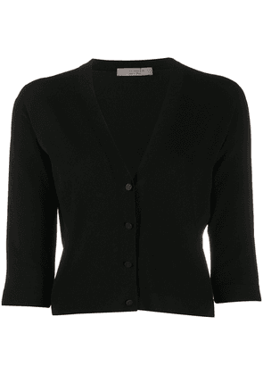 D.Exterior knitted cropped cardigan - Black