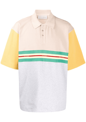 Drôle De Monsieur colour blocked polo shirt - NEUTRALS