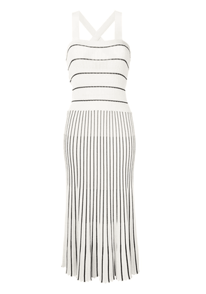 Alexis knitted striped pattern dress - White