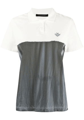 Mr & Mrs Italy logo colour-block polo shirt - Grey