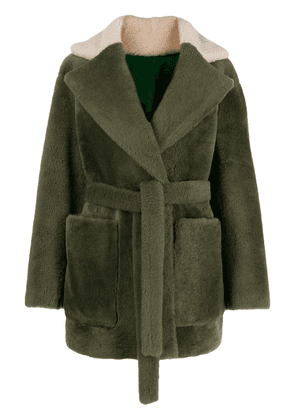 Blancha reversible oversized jacket - Green