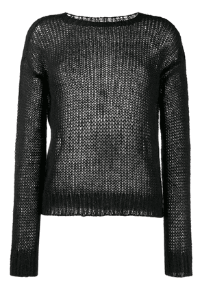 Prada ribbed crew neck knitted top - Black