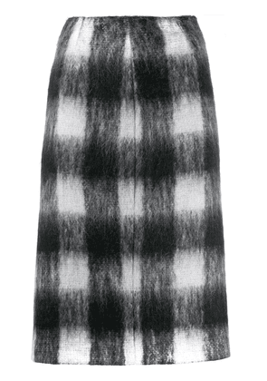 Maison Margiela check print pencil skirt - Black