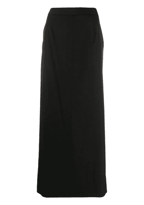 Maison Margiela side slit maxi skirt - Black
