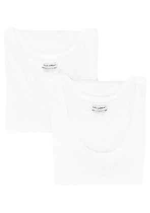 Dolce & Gabbana two-pack vest top - White