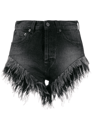 Saint Laurent frayed denim shorts - Black