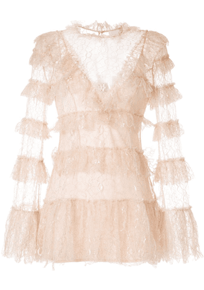 Alice McCall lace tiered dress - PINK