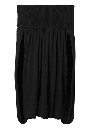 Burberry Off-the-shoulder Wool and Crepe Dress - Black