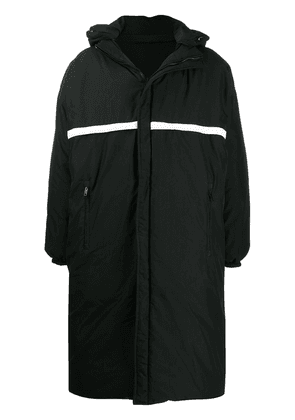 Givenchy graphic logo coat - Black