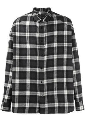 Juun.J checked cotton shirt - Black