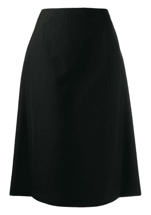 Maison Margiela flamingo print skirt - Black