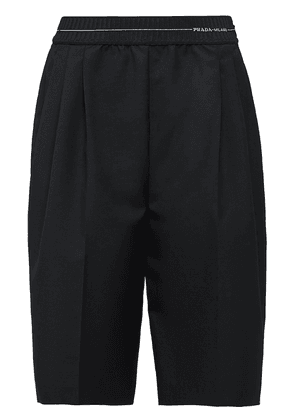 Prada striped elasticated waistband Bermudas - Black