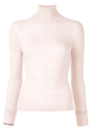 Barrie knitted roll neck top - PINK